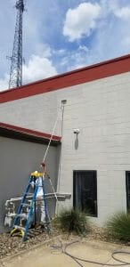 commercial painters at work