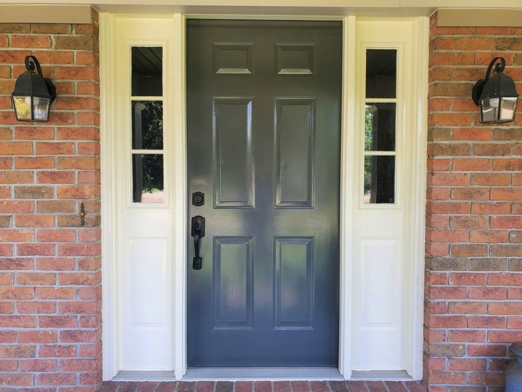 painted exterior front door