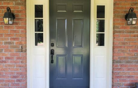 painted exterior front door