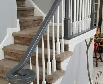 residential interior stairway painted