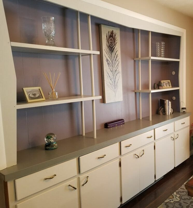 White Refinished Cabinet